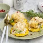 Crostini di polenta con cavolfiore gratinato